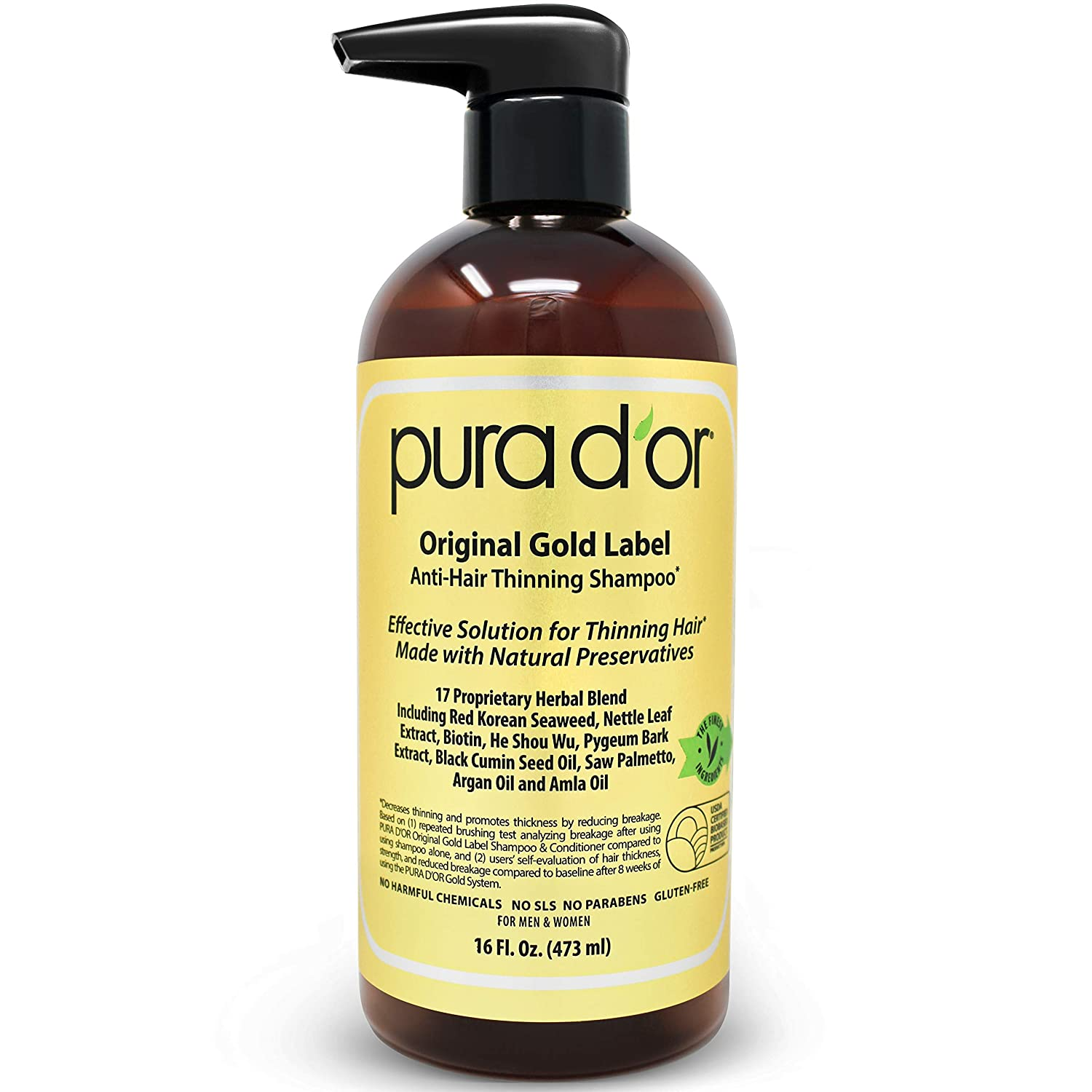 Pura D'Or Anti-Thinning Shampoo for Men and Women